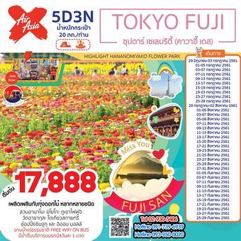 ทัวร์ญี่ปุ่น TOKYO FUJI 5D3N ซุปตาร์ เซเลบริตี้ (คาวาอี๊ เดส)