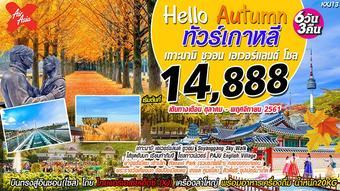 Hello Autumn ทัวร์เกาหลี ซูวอน โซล เกาะนามิ เอเวอร์แลนด์ 6วัน3คืน