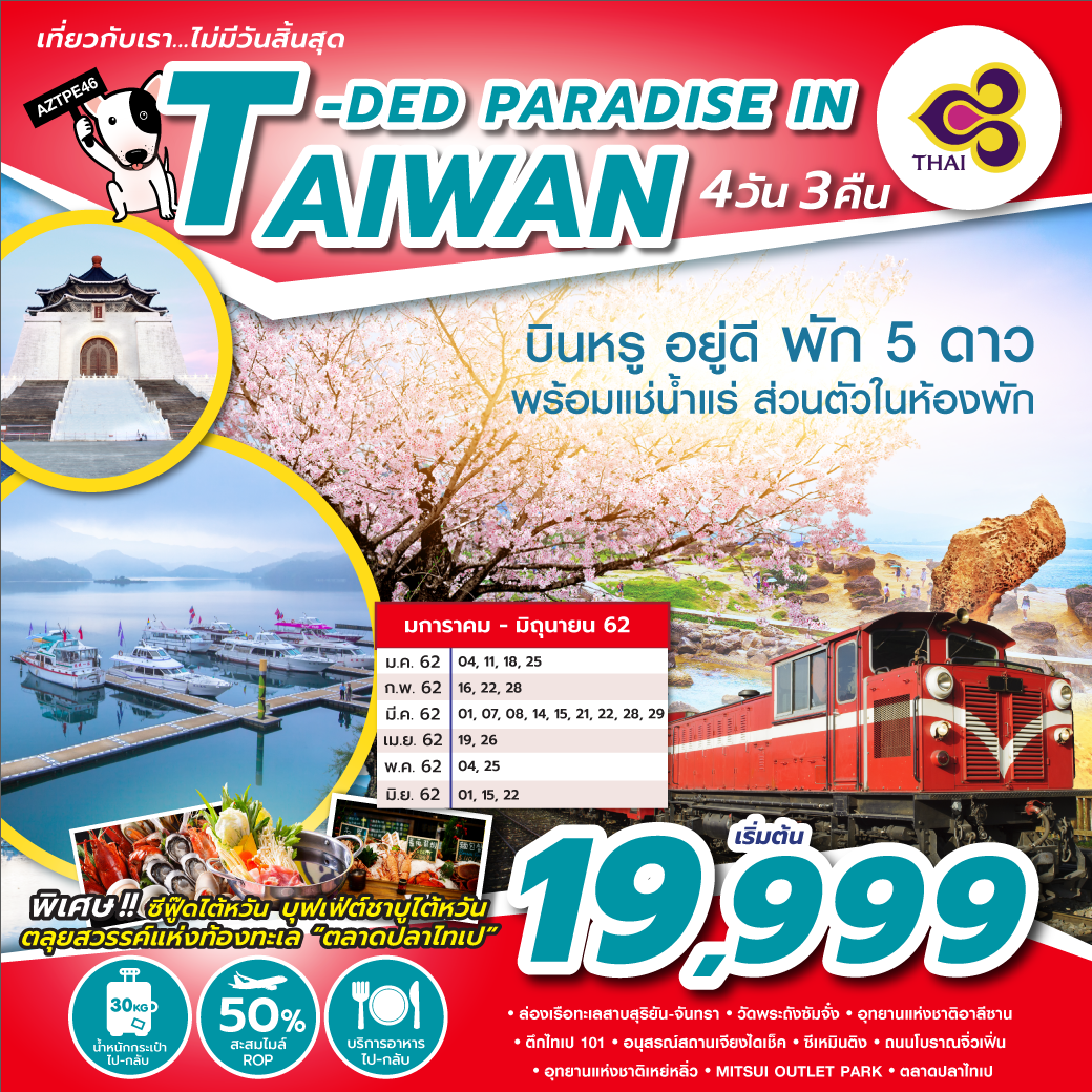 T-DED PARADISE IN TAIWAN 4D 3N