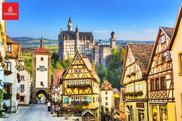 เที่ยวยุโรป ทัวร์เยอรมัน แกรนด์เยอรมัน นอยชวานสไตน์ ไฮเดลเบิร์ก แฟรงก์เฟริต 7วัน 4คืน บินเอมิเรตส์ EK