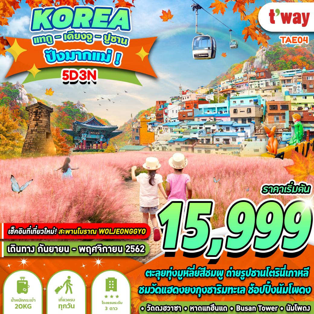 ทัวร์เกาหลี ปังมากแม่ 5 วัน 3 คืน