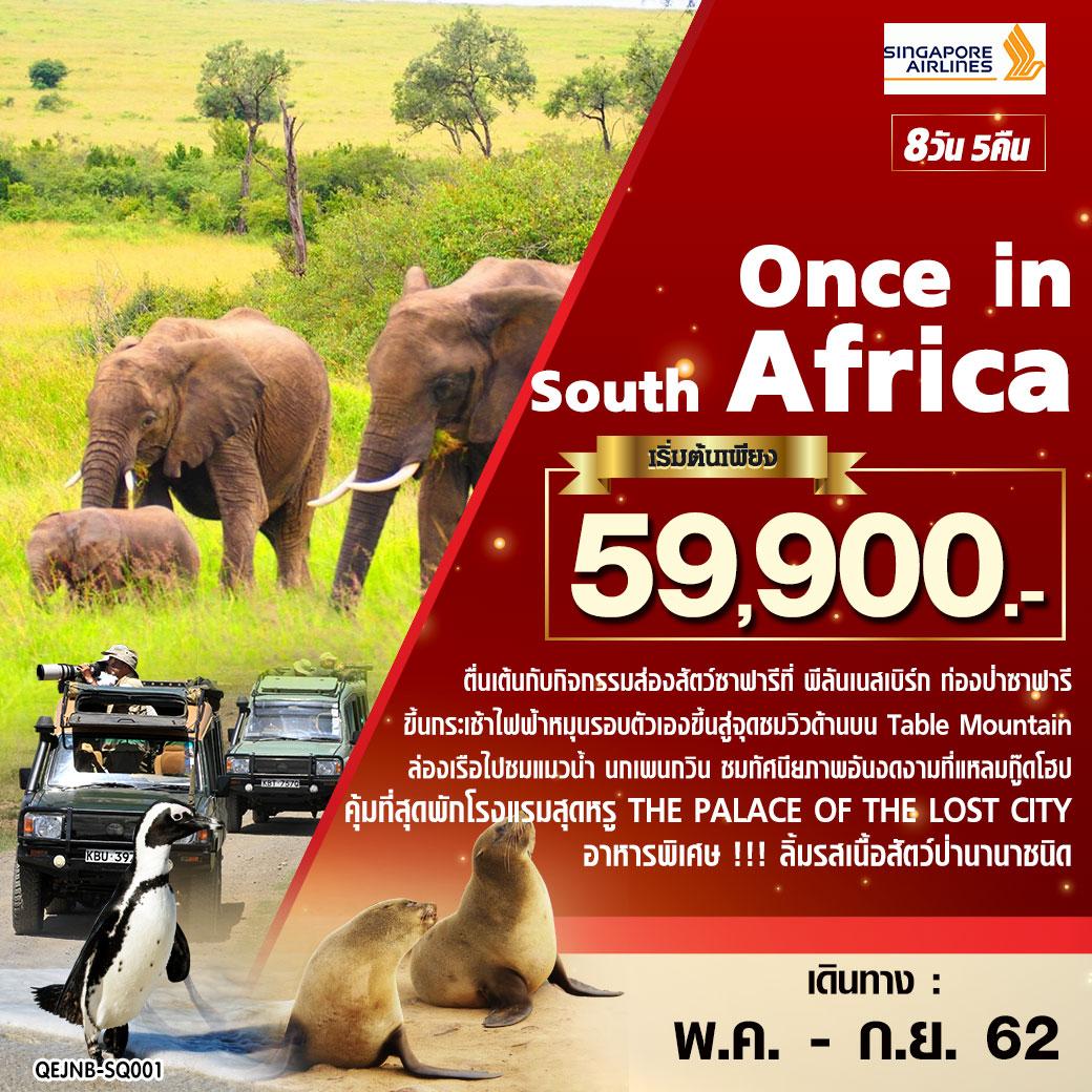ทัวร์แอฟริกา Once in South Africa แอฟริกาใต้ 8 วัน 5 คืน