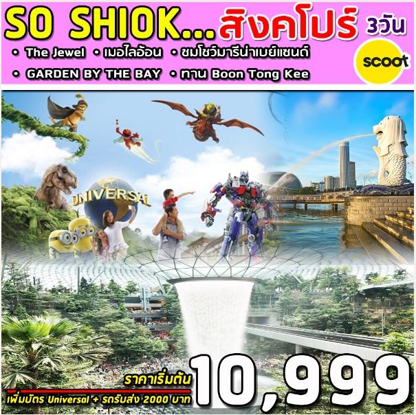 ทัวร์สิงคโปร์ SUPERB SO SHIOK 3D (TR)