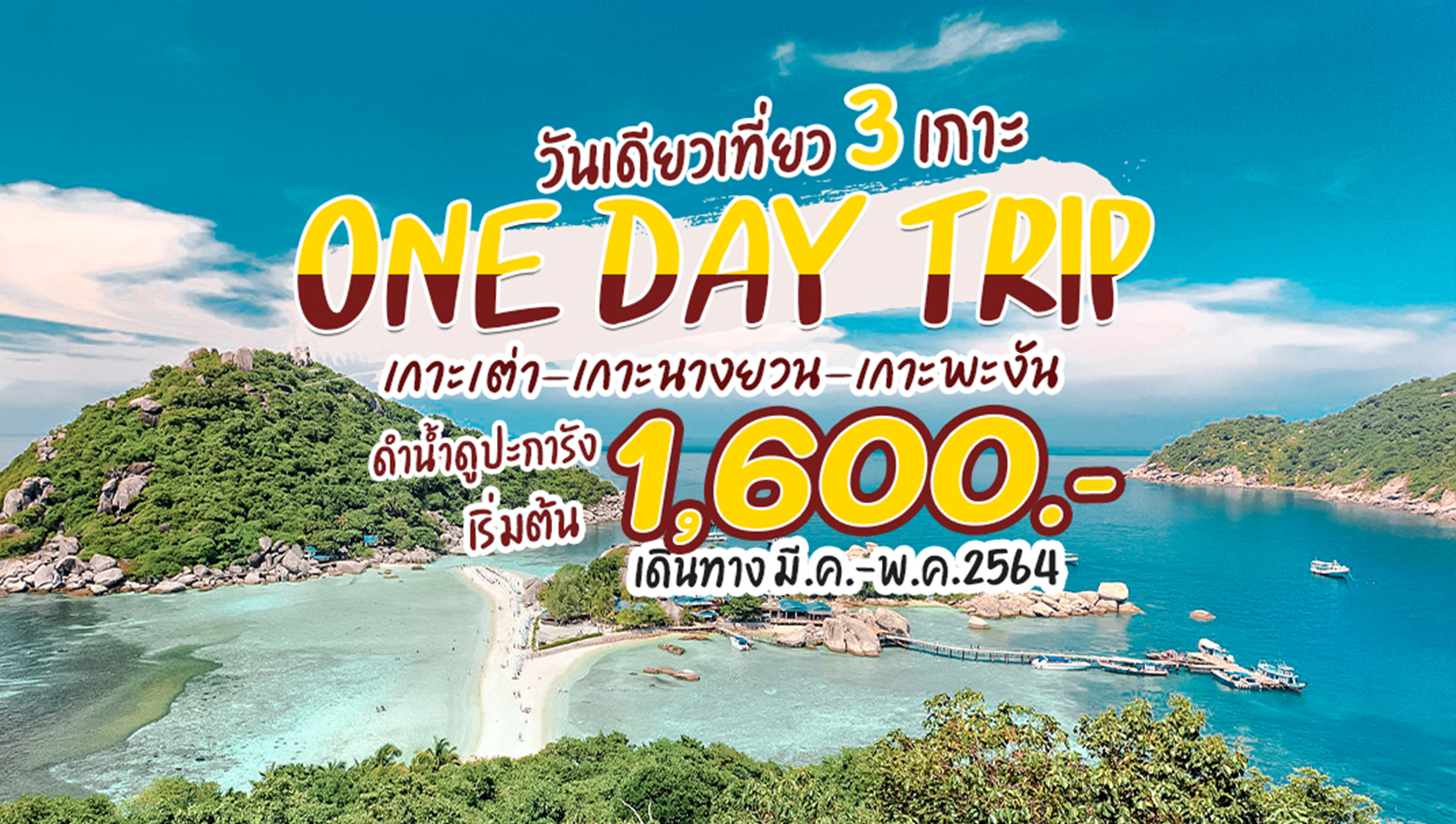 one day trip เกาะเต่า เกาะนางยวน เกาะพะงัน
