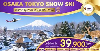 ทัวร์ญี่ปุ่น OSAKA TOKYO SNOW SKI 6D4N (TG)