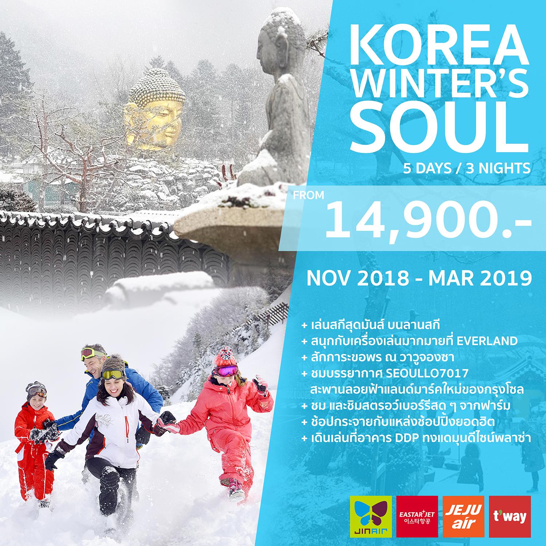 ทัวร์เกาหลี KOREA WINTER'S SOUL 5วัน 3คืน