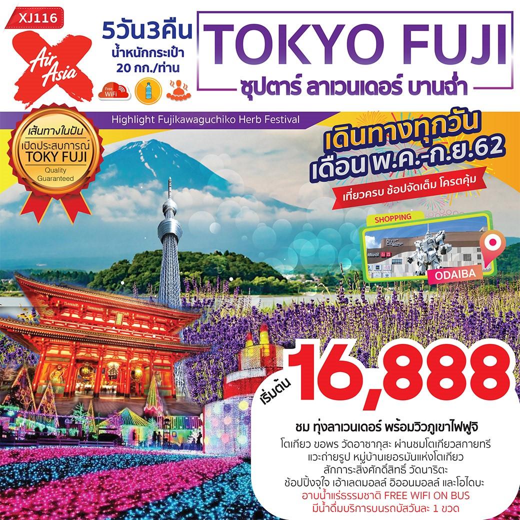 ทัวร์ญี่ปุ่น ซุปตาร์ ลาเวนเดอร์ บานฉ่ำ TOKYO FUJI 5D3N