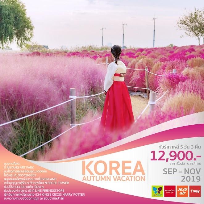 ทัวร์เกาหลี KOREA AUTUMN VACATION 5 วัน 3 คืน