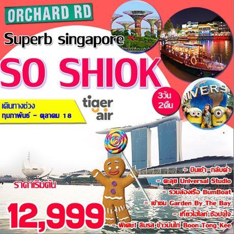 ทัวร์สิงคโปร์ SUPERB SINGAPORE SO SHIOK 3DAYS (TR)
