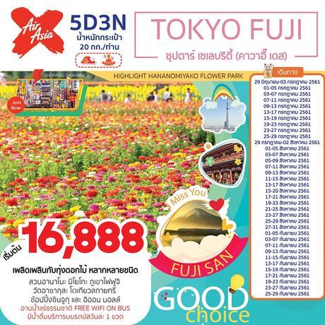TOKYO FUJI  ซุปตาร์ เซเลบริตี้ (คาวาอี๊ เดส) 5 วัน 3 คืน (TTNT)