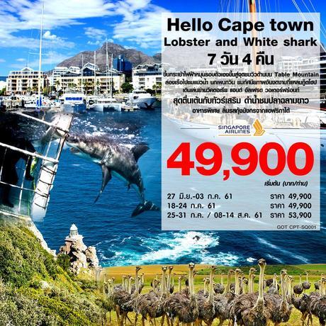 ทัวร์แอฟริกาใต้ HELLO CAPE TOWN, LOBSTER AND WHITE SHARK 7 วัน 4 คืน (CONS)