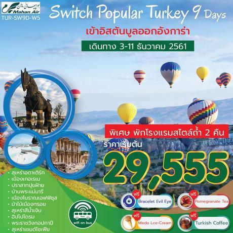 ทัวร์ตุรกี SWITCH POPULAR TURKEY TULIP 9 วัน 6 คืน (PRVC)