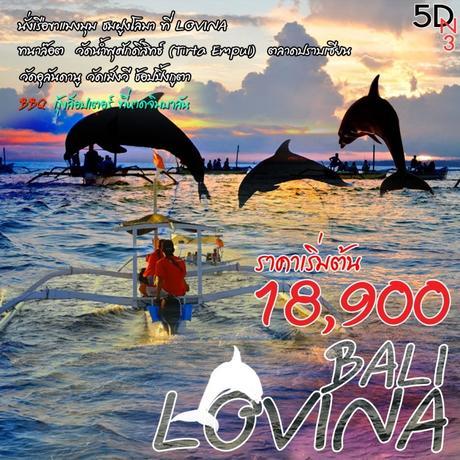 ทัวร์บาหลีี BALI LOVINA 5 วัน 3 คืน ( SOCL )