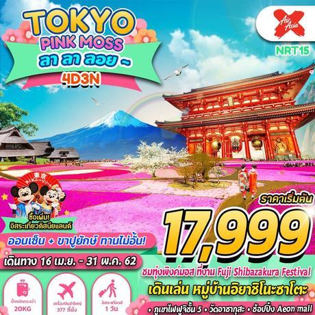ทัวร์ญี่ปุ่น TOKYO PINKMOSS ลา ลา ลอย 4 วัน 3 คืน XJ ( GS25 )