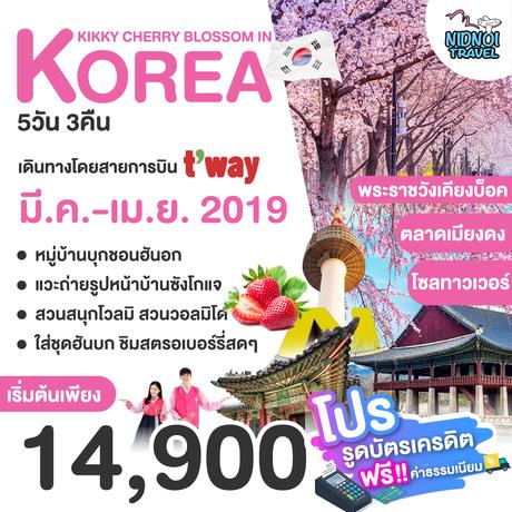 ทัวร์เกาหลี KIKKY CHERRY BLOSSOM IN KOREA 5 วัน 3 คืน TW (WORL)
