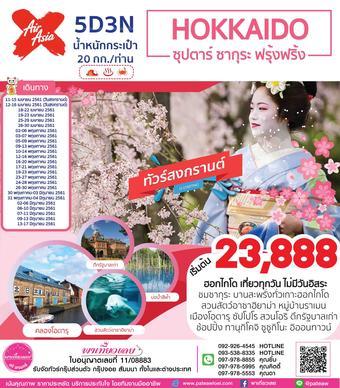 ญี่ปุ่น HOKKAIDO ซุปตาร์ ซากุระ ฟรุ้งฟริ้ง 5วัน 3คืน