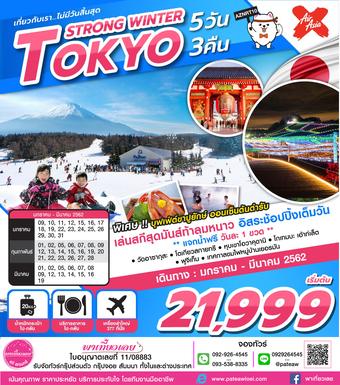 ญี่ปุ่น TOKYO STRONG WINTER 5วัน 3คืน