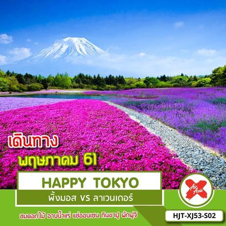 ทัวรญี่ปุ่น HJT-XJ53-S02  HAPPY TOKYO ทุ่งพิ้งมอส VS ทุ่งลาเวนเดอร์