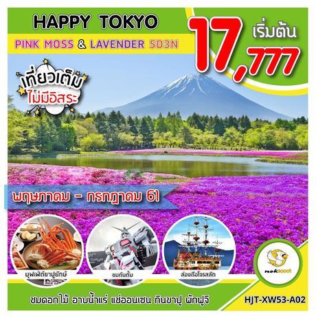 ทัวร์ญี่ปุ่น ทัวร์โตเกียว HJT-XW53-A02  HAPPY TOKYO PINK MOSS LAVENDER