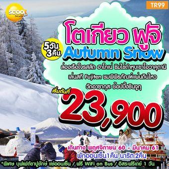 Autumn Snow โตเกียว ฟูจิ  5วัน 3คืน