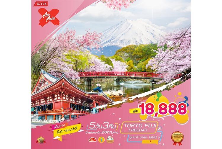 ทัวร์ญี่ปุ่น TOKYO FUJI FREEDAY 5D3N ซุปตาร์ ซากุระ ไฟไหม้ 6