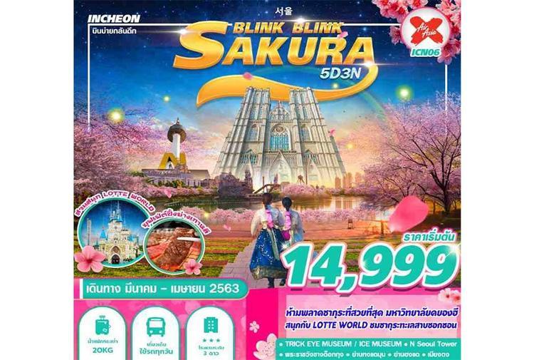 ทัวร์เกาหลี บินบ่ายกลับดึก KOREA SAKURA BLINK BLINK 5D3N