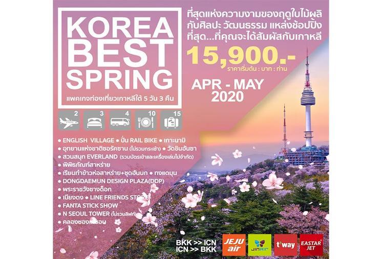 ทัวร์เกาหลี KOREA BEST SPRING 5 วัน 3 คืน