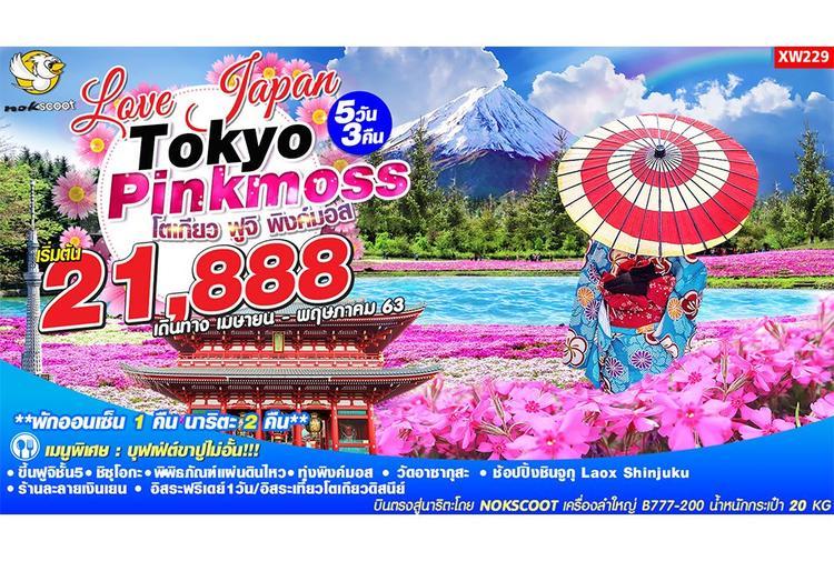 ทัวร์ญี่ปุ่น Love Japan Tokyo Fuji Pink Moss 5D3N