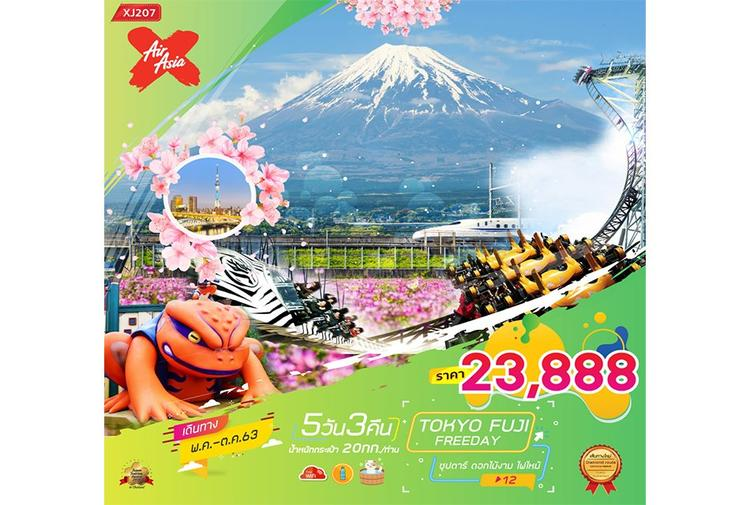 ทัวร์ญี่ปุ่น TOKYO FUJI FREEDAY 5D3N ซุปตาร์ ดอกไม้งาม ไฟไหม้ 12