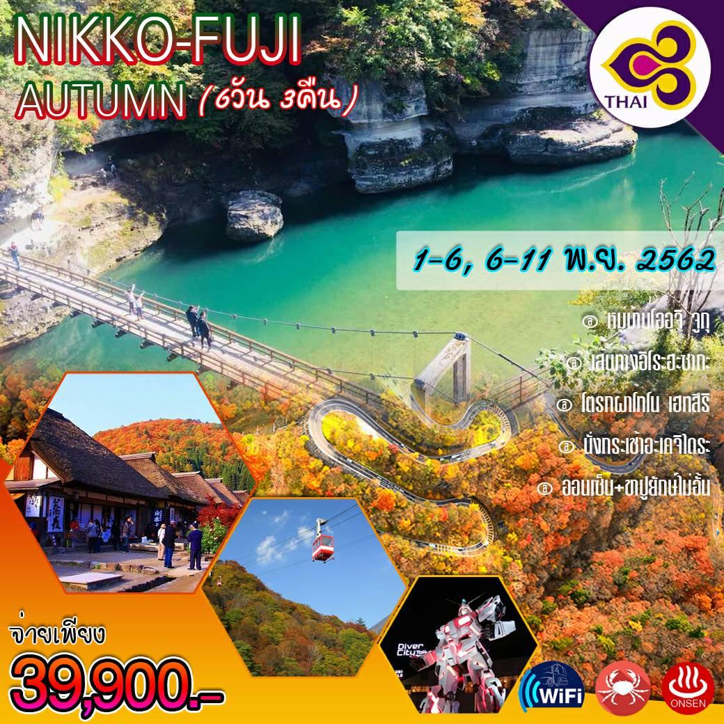 NIKKO-FUJI AUTUMN นิกโก้-คาวาโกเอะ-ฟูจิ-ฮาโกเน่-ชมใบไม้เปลี่ยนสี 6วัน3คืน