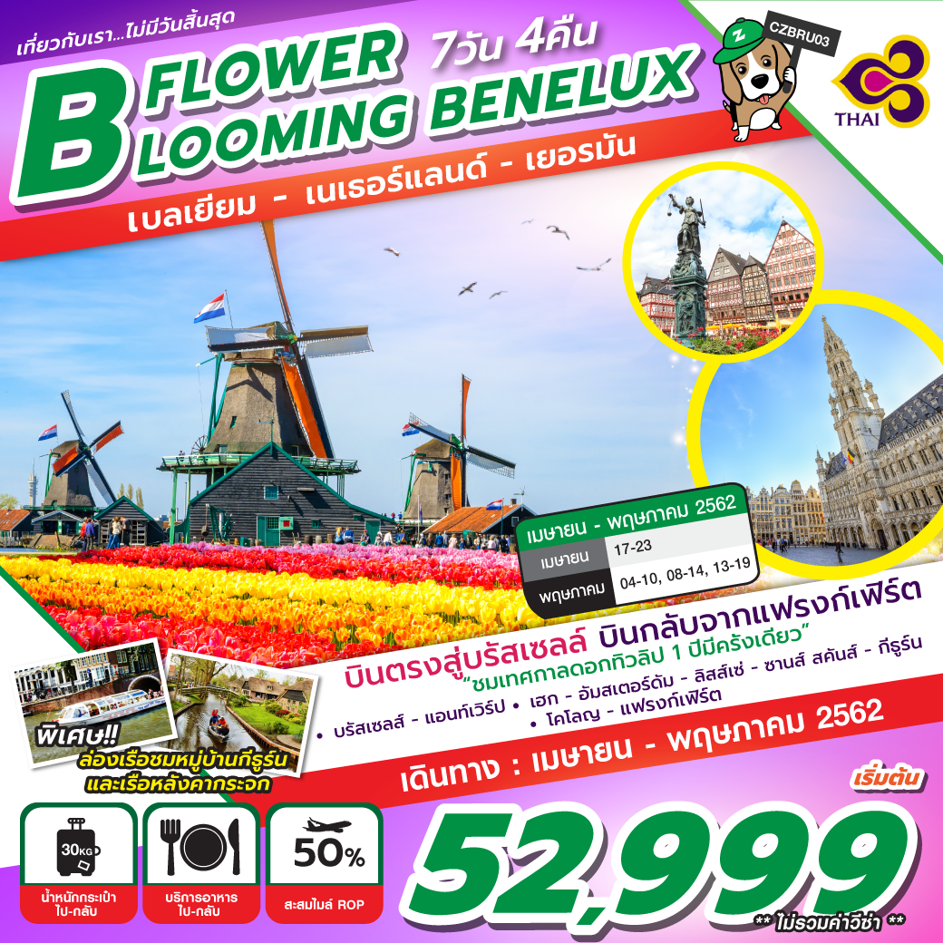 FLOWER BLOOMING BENELUX 7D4N