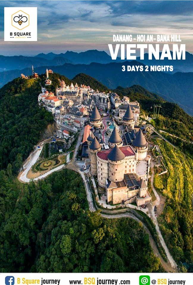 private trip : เวียดนามกลาง ดานัง ฮอยอัน บานาฮิลล์ 3วัน 2คืน (สำหรับ 6 ท่าน)